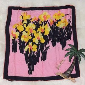 Jaques Radziwill silk vintage pink,black scarf
